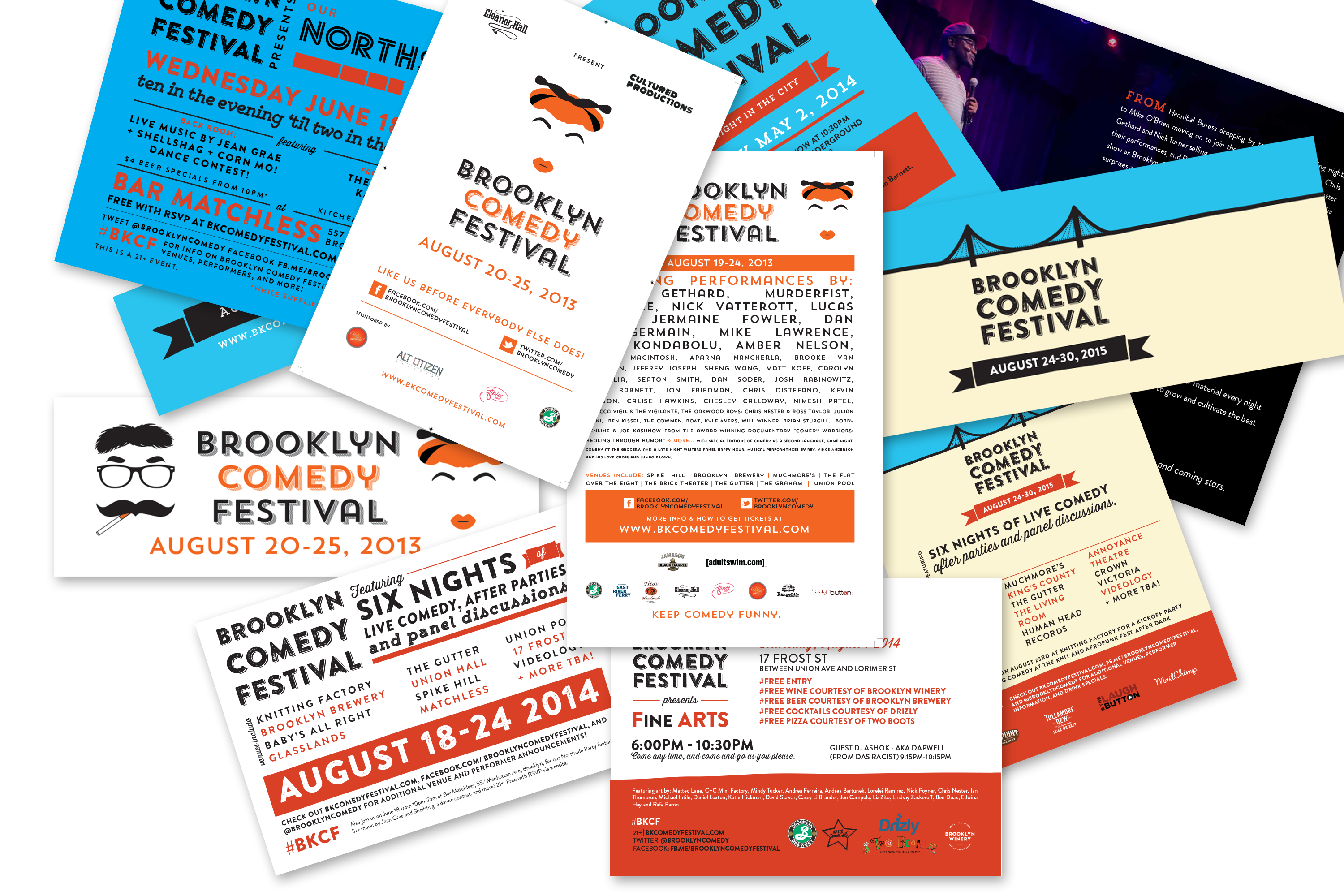 Brooklyn Comedy Festival Branding and Design 1