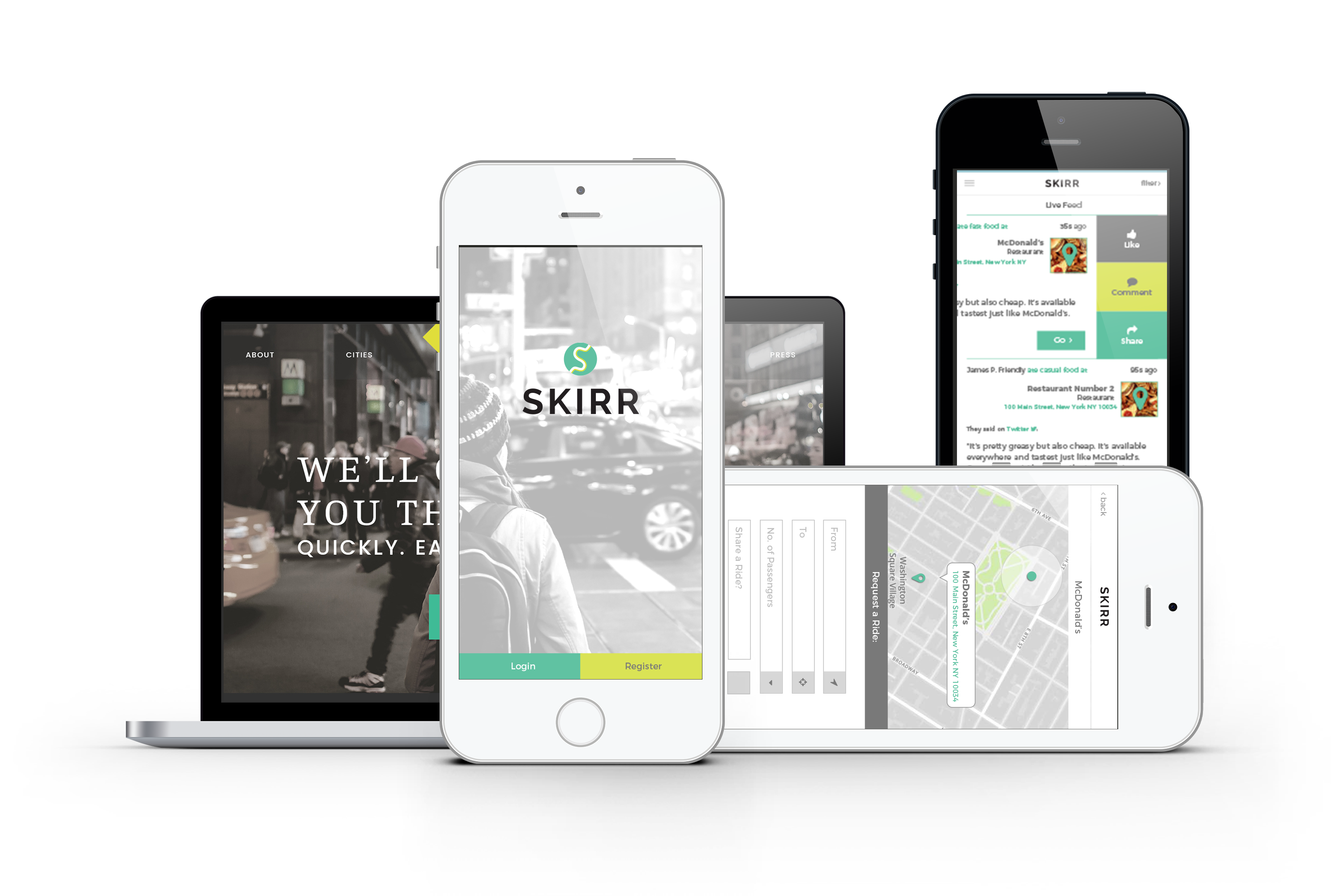 SKIRR Mobile App & Branding 1